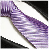 Purple Striped Silk Necktie by Paul Malone Paul Malone Ties - Paul Malone.com
