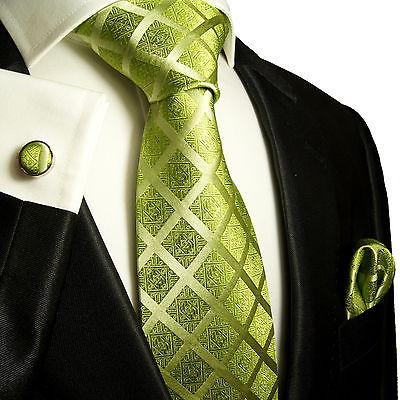 Silk Necktie Set by Paul Malone . Green Paul Malone Ties - Paul Malone.com