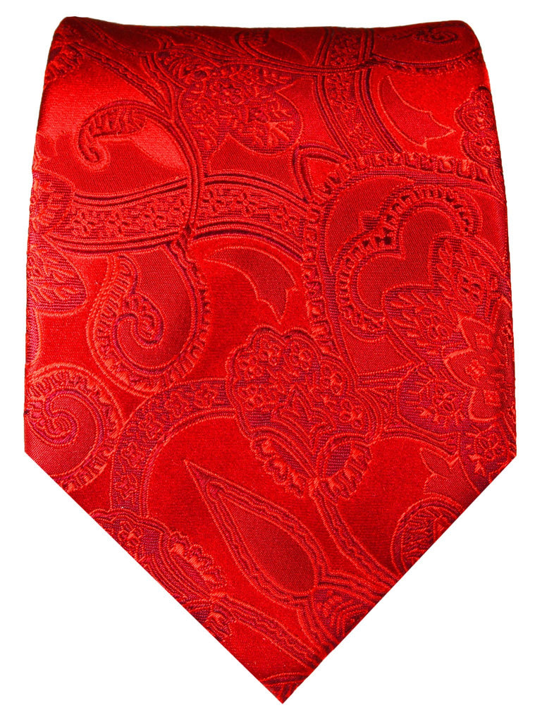 Jester Red Paisley Silk Necktie by Paul Malone Paul Malone Ties - Paul Malone.com