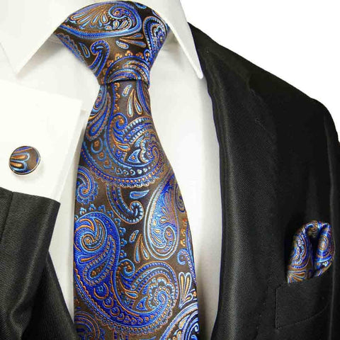 Extra Long Angel Blue Men's Tie with Microchecks