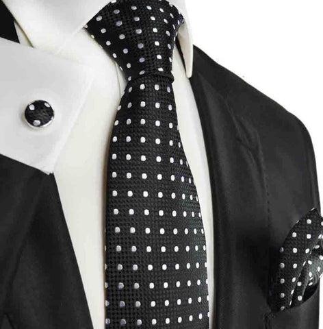 Black Knit Tie by Paul Malone
