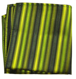 Green Striped Silk Necktie Set by Paul Malone Paul Malone Ties - Paul Malone.com