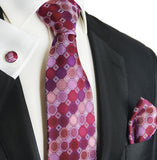 Sparkling Grape Silk Tie and Square by Paul Malone Paul Malone Ties - Paul Malone.com