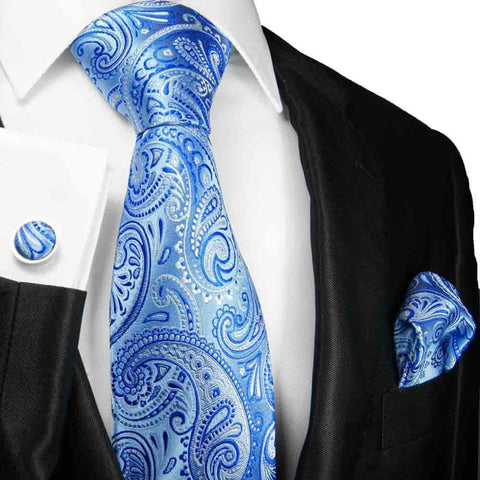 Extra Long Red and Sky Blue Men's Tie