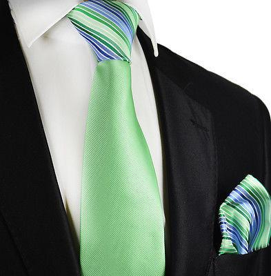 Mint Green Contrast Knot Tie Set by Paul Malone Paul Malone Ties - Paul Malone.com