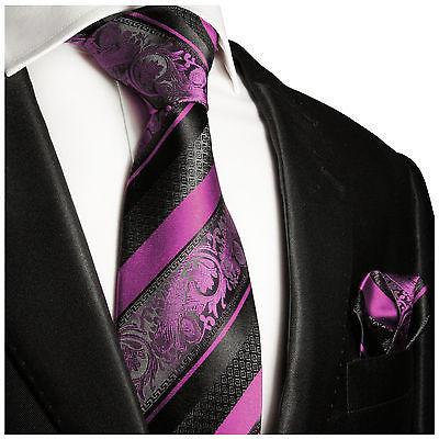 Pink and Black Silk Tie and Pocket Square Paul Malone Ties - Paul Malone.com