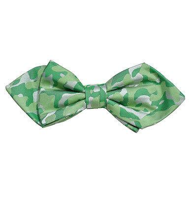 Green Camouflage Silk Bow Tie by Paul Malone Paul Malone Bow Ties - Paul Malone.com