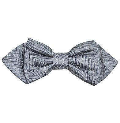 Grey Silk Bow Tie by Paul Malone Paul Malone Bow Ties - Paul Malone.com