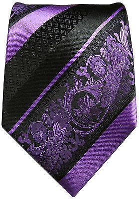 Purple and Black Silk Tie and Pocket Square Paul Malone Ties - Paul Malone.com