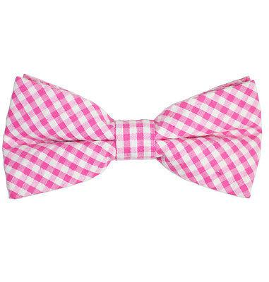 Pink Gingham Cotton Bow Tie by Paul Malone Paul Malone Bow Ties - Paul Malone.com