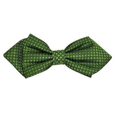 Green Checked Silk Bow Tie by Paul Malone Paul Malone Bow Ties - Paul Malone.com