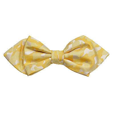 Yellow Camouflage Silk Bow Tie by Paul Malone Paul Malone Ties - Paul Malone.com