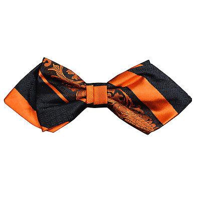 Fire Orange and Black Silk Bow Tie by Paul Malone Paul Malone Bow Ties - Paul Malone.com
