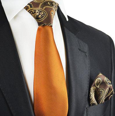 Caramel Brown Contrast Knot Tie Set by Paul Malone Paul Malone Ties - Paul Malone.com