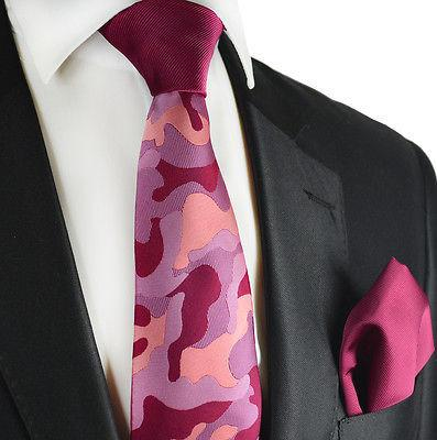 Plum Contrast Knot Tie Set by Paul Malone Paul Malone Ties - Paul Malone.com