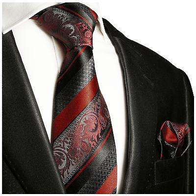 Baked Apple and Black Silk Tie and Pocket Square by Paul Malone Paul Malone Ties - Paul Malone.com