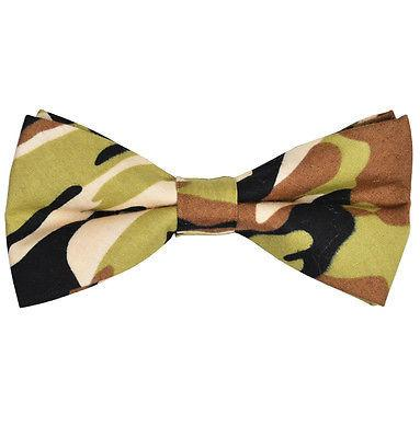 Camouflage Cotton Bow Tie by Paul Malone Bow Ties Paul Malone