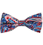 Paisley Cotton Bow Tie by Paul Malone Paul Malone Bow Ties - Paul Malone.com