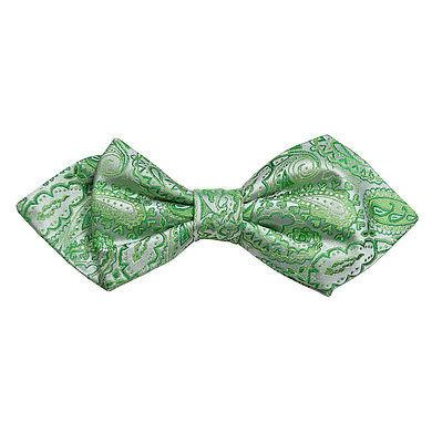 Green Paisley Silk Bow Tie by Paul Malone Paul Malone Bow Ties - Paul Malone.com