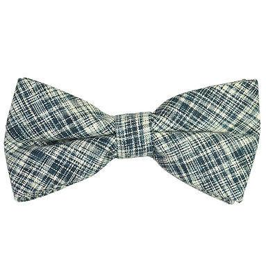 Grey Cotton/Linen Bow Tie by Paul Malone Paul Malone Bow Ties - Paul Malone.com