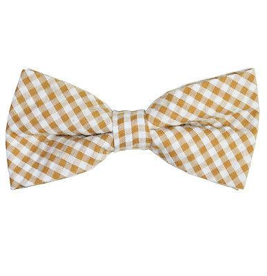 Tan Gingham Cotton Bow Tie by Paul Malone Paul Malone Ties - Paul Malone.com