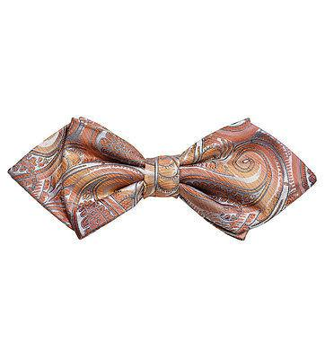 Coral Paisley Silk Bow Tie by Paul Malone Paul Malone Ties - Paul Malone.com