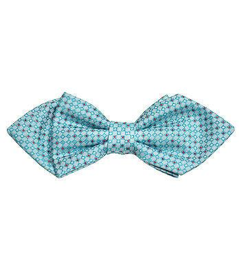 Turquoise and Red Silk Bow Tie by Paul Malone Paul Malone Ties - Paul Malone.com
