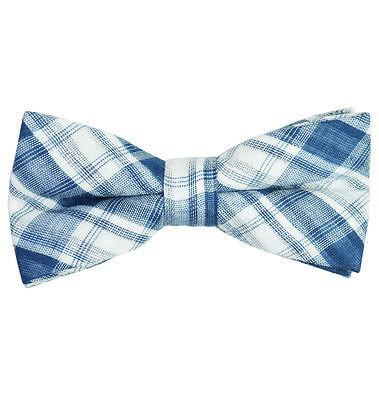 Plaid Cotton/Linen Bow Tie by Paul Malone Paul Malone Ties - Paul Malone.com