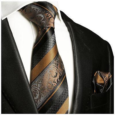 Green and Black Silk Tie and Pocket Square