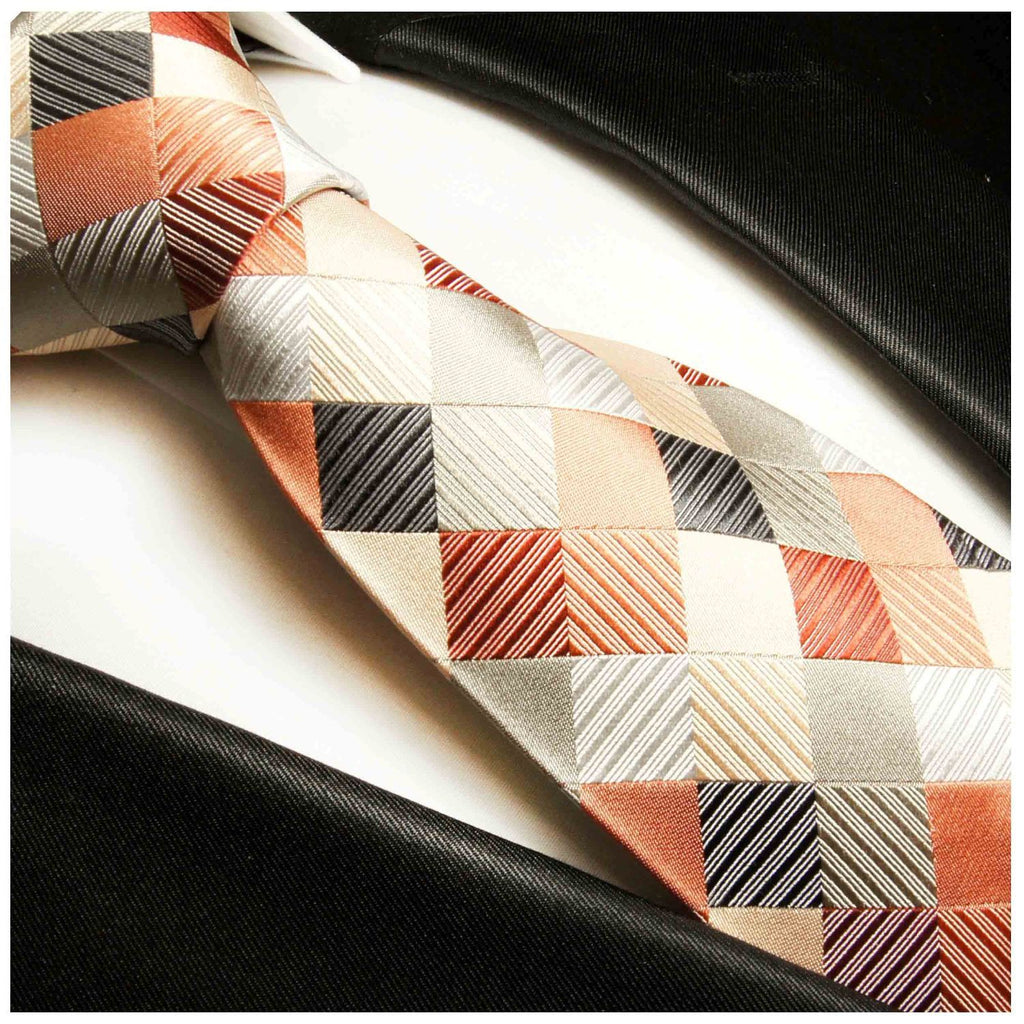 Multi Color Silk Tie and Accessories Ties Paul Malone