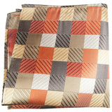 Multicolor Checkered Silk Pocket Square Paul Malone  - Paul Malone.com