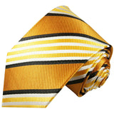 Gold Striped Boys Silk Tie by Paul Malone Paul Malone Ties - Paul Malone.com