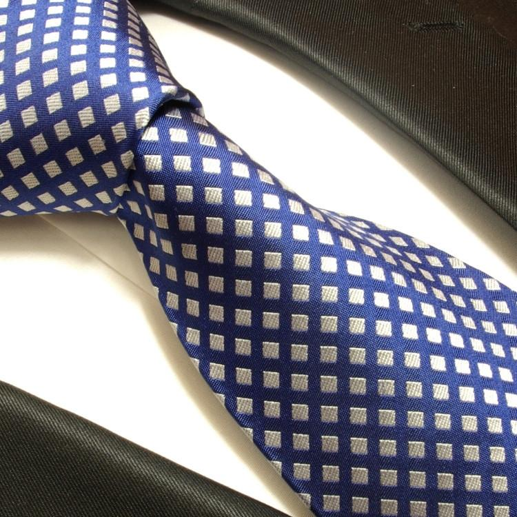 Blue and Silver Silk Necktie Set Ties Paul Malone