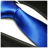 Solid Royal Blue Silk Tie and Accessories Paul Malone Ties - Paul Malone.com