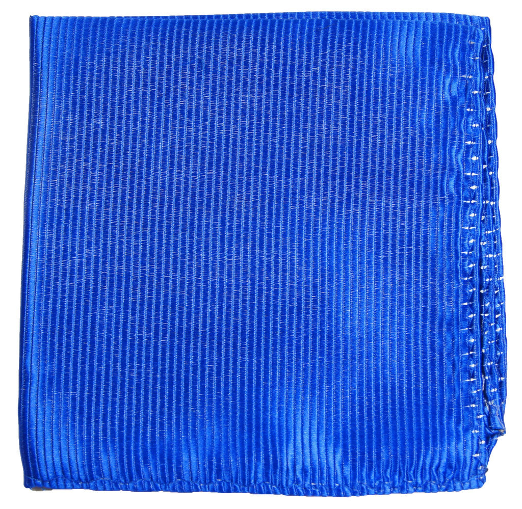 Blue Silk Pocket Square Paul Malone  - Paul Malone.com