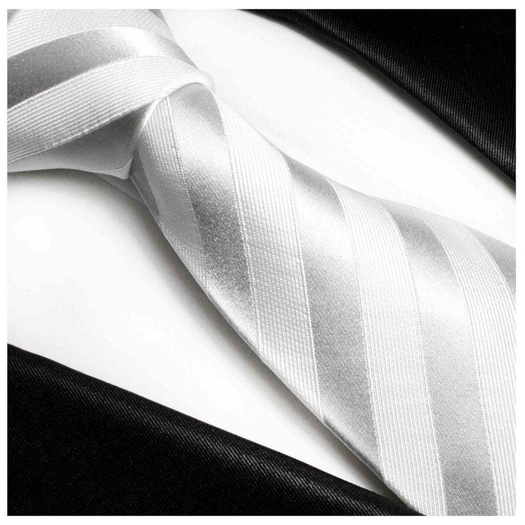 Formal White Wedding Silk Tie Paul Malone Ties - Paul Malone.com