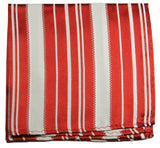 Red and White Striped Silk Pocket Square Paul Malone  - Paul Malone.com
