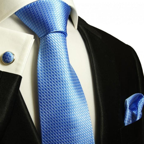 Extra Long Palace Blue and White Striped Tie