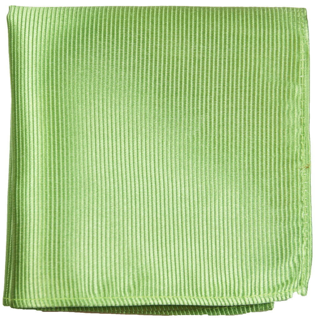 Solid Green Silk Pocket Square Paul Malone  - Paul Malone.com