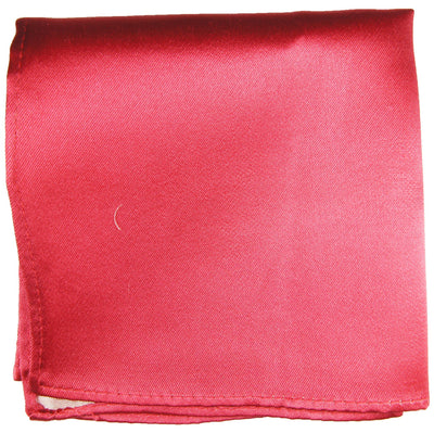 Solid Pink Silk Pocket Square Paul Malone  - Paul Malone.com