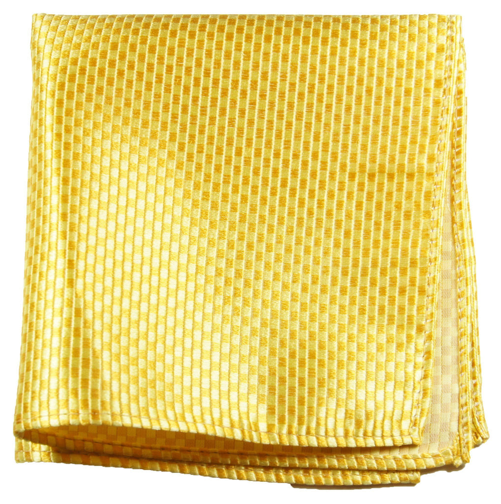 Solid Yellow Silk Pocket Square Paul Malone  - Paul Malone.com