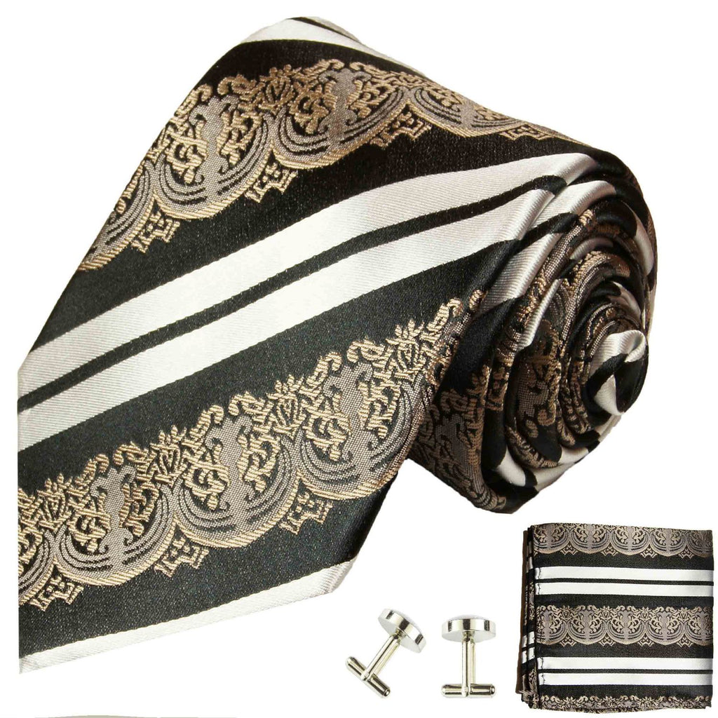 Bronze Baroque Silk Tie and Accessories Paul Malone Ties - Paul Malone.com