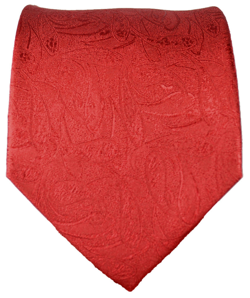 Red Paisley Formal Silk Tie and Accessories Paul Malone Ties - Paul Malone.com