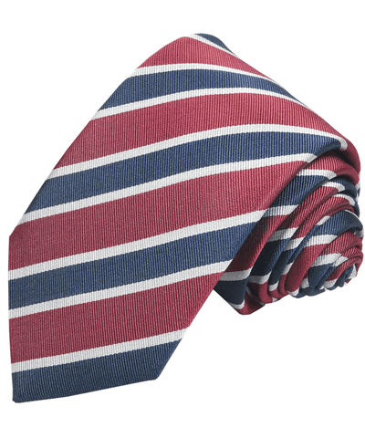 Necktie with Blue and Red Blazer Stripes Paul Malone Ties - Paul Malone.com