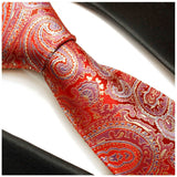 Silk Necktie Set by Paul Malone . Red, Blue and Gold Paisley Paul Malone Ties - Paul Malone.com