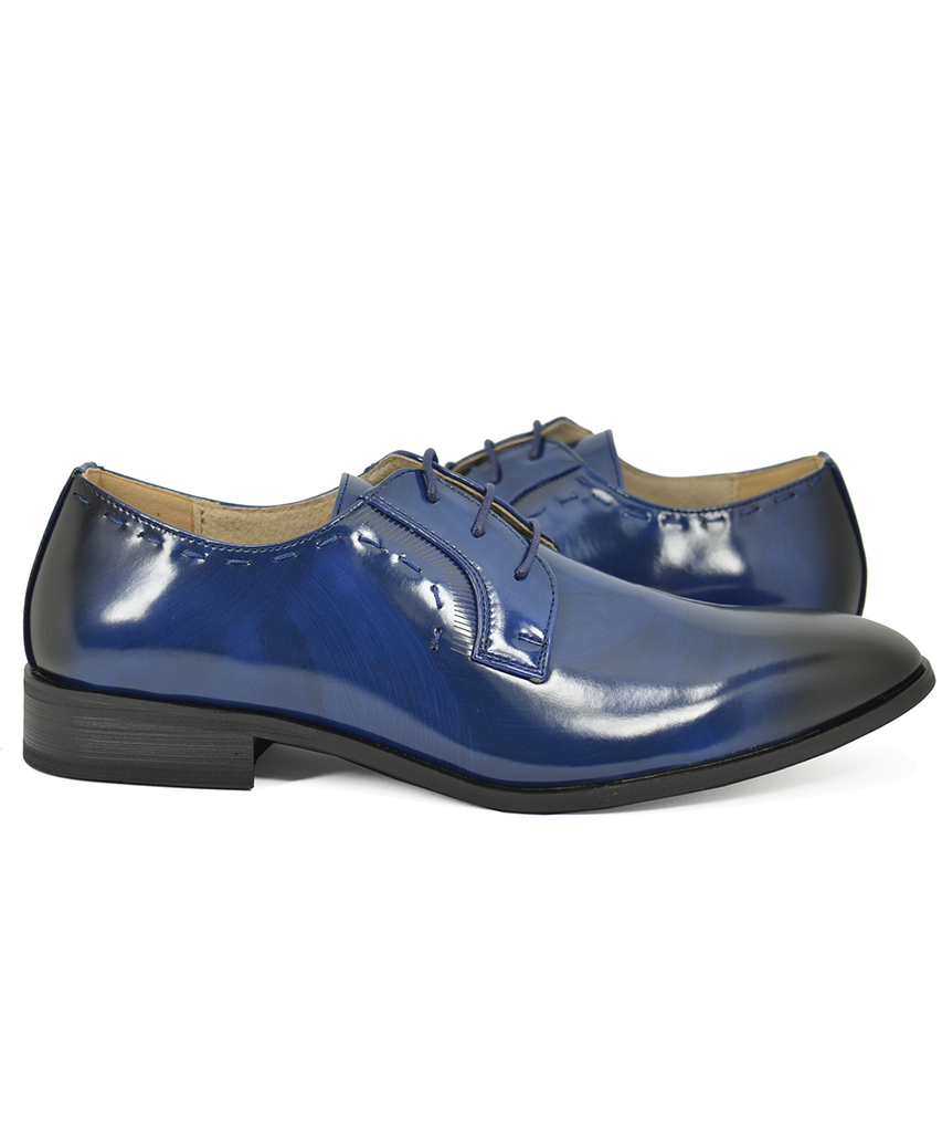 Formal Royal Blue Tuxedo Shoes Majestic Shoes - Paul Malone.com