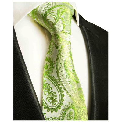 Green Paisley Silk Necktie by Paul Malone Paul Malone Ties - Paul Malone.com