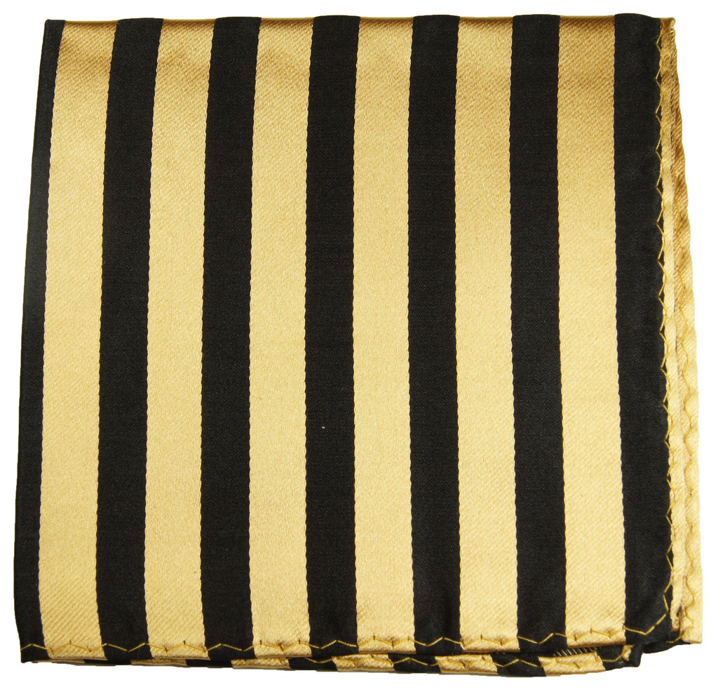 Gold and Black Striped Necktie by Paul Malone Paul Malone Ties - Paul Malone.com