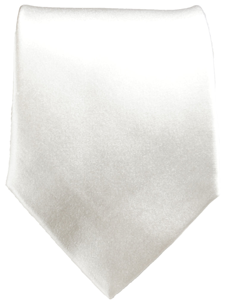Extra Long Classic White Silk Tie and matching Accessories Paul Malone Ties - Paul Malone.com