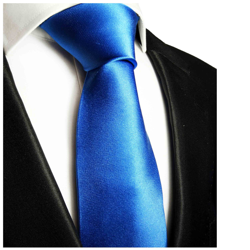 Solid Blue Boys Silk Tie by Paul Malone Paul Malone Ties - Paul Malone.com
